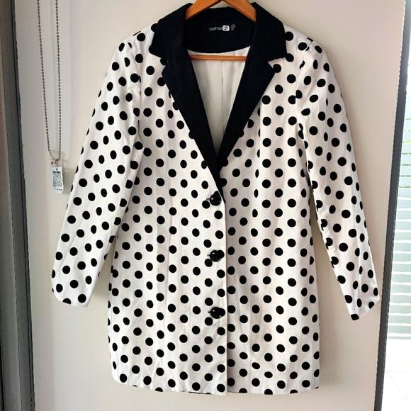 Boohoo Jackets & Blazers - BOOHOO|| POLKA DOT BLAZER DRESS SIZE 12